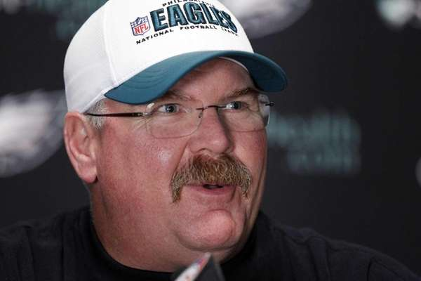 Former Philadelphia Eagles head coach Andy Reid speaks