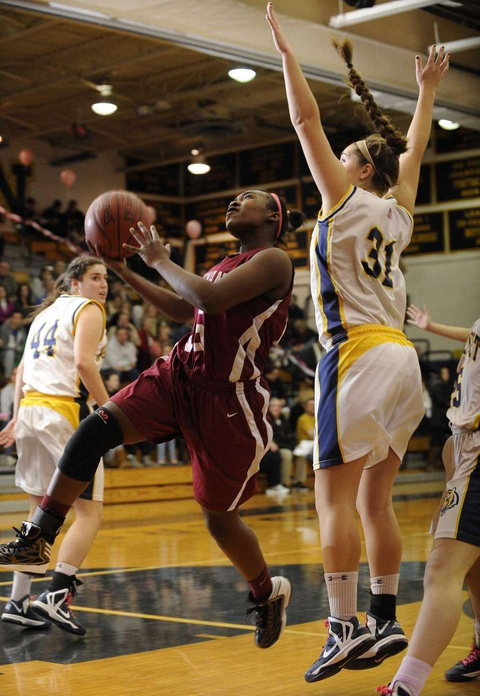 Whitman's Katira Jemmot goes up for a layup