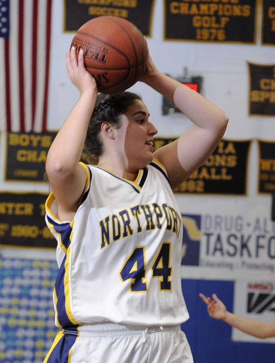 Northport's Allie Clarke looks to pass the ball