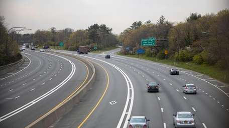 Westbound traffic is light on the Long Island