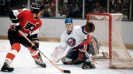 Islanders goaltender Billy Smith,  shown here in