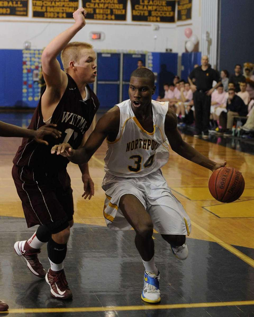 Northport's Michael Milligan Jr. drives in the paint