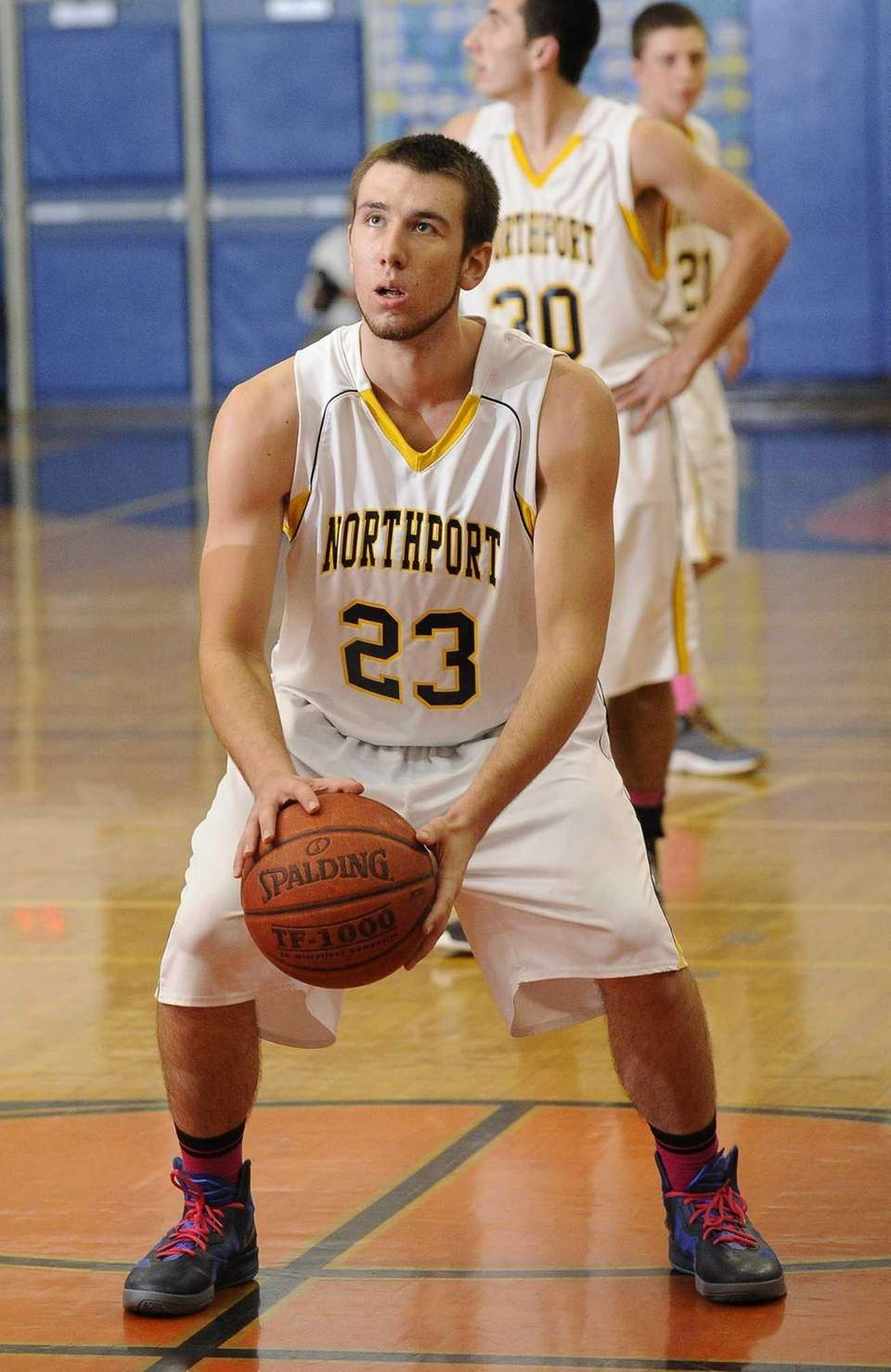 Northport's Andrew Seaman shoots a free throw during