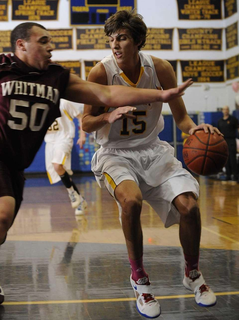 Northport's Luke Petrasek drives to the basket as