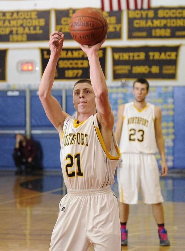 Northport's Austin Marchese shoots a foul shot during