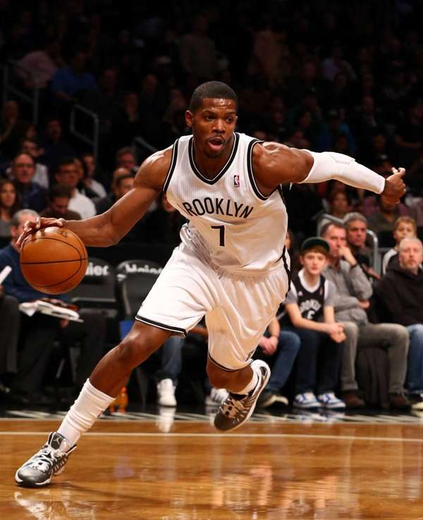 Joe Johnson controls the ball during a game