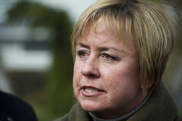 Hempstead Town Supervisor Kate Murray speaks with Levittown