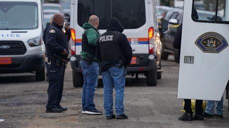 Nassau and Hempstead Village police investigate a homicide
