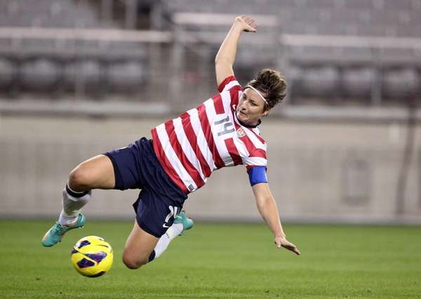 United States' Abby Wambach in an international