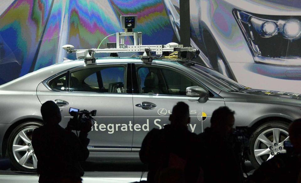 Toyota presents an experimental automated Lexus LS600hL car,