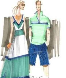 A sketch from the Banana Republic Milly Collection,