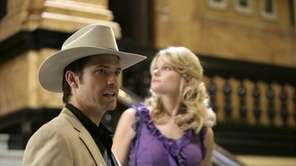 Timothy Olyphant, left, stars as Deputy U.S. Marshal