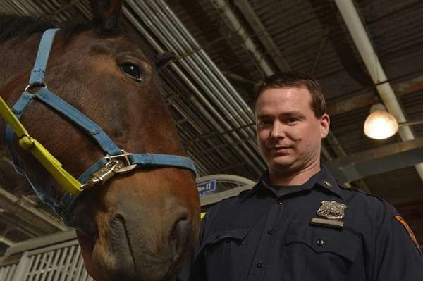 NYPD Police Officer Colin McCarty of Massapequa photographed