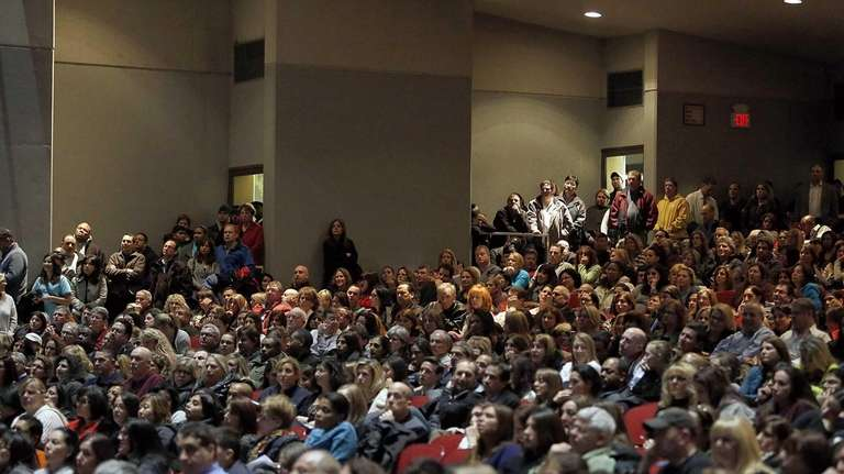 A boisterous crowd of more than 1,000 packed