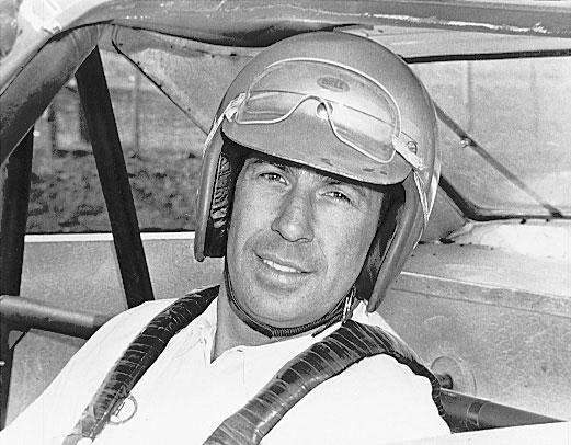 Ned Jarrett poses in the early days of