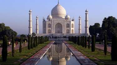 The Taj Mahal in Agra, India, is just