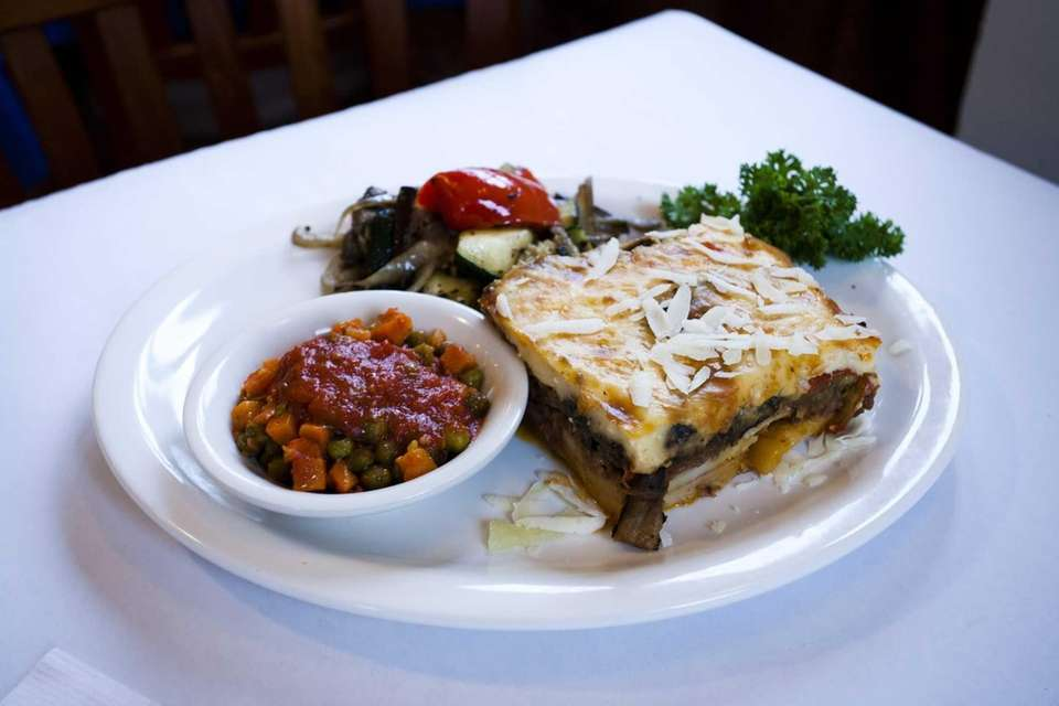 Aegean Grill's moussaka, a classic Hellenic layering of