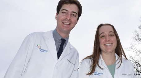 Northwell Health residents Alexander Smith and Alison Laxer