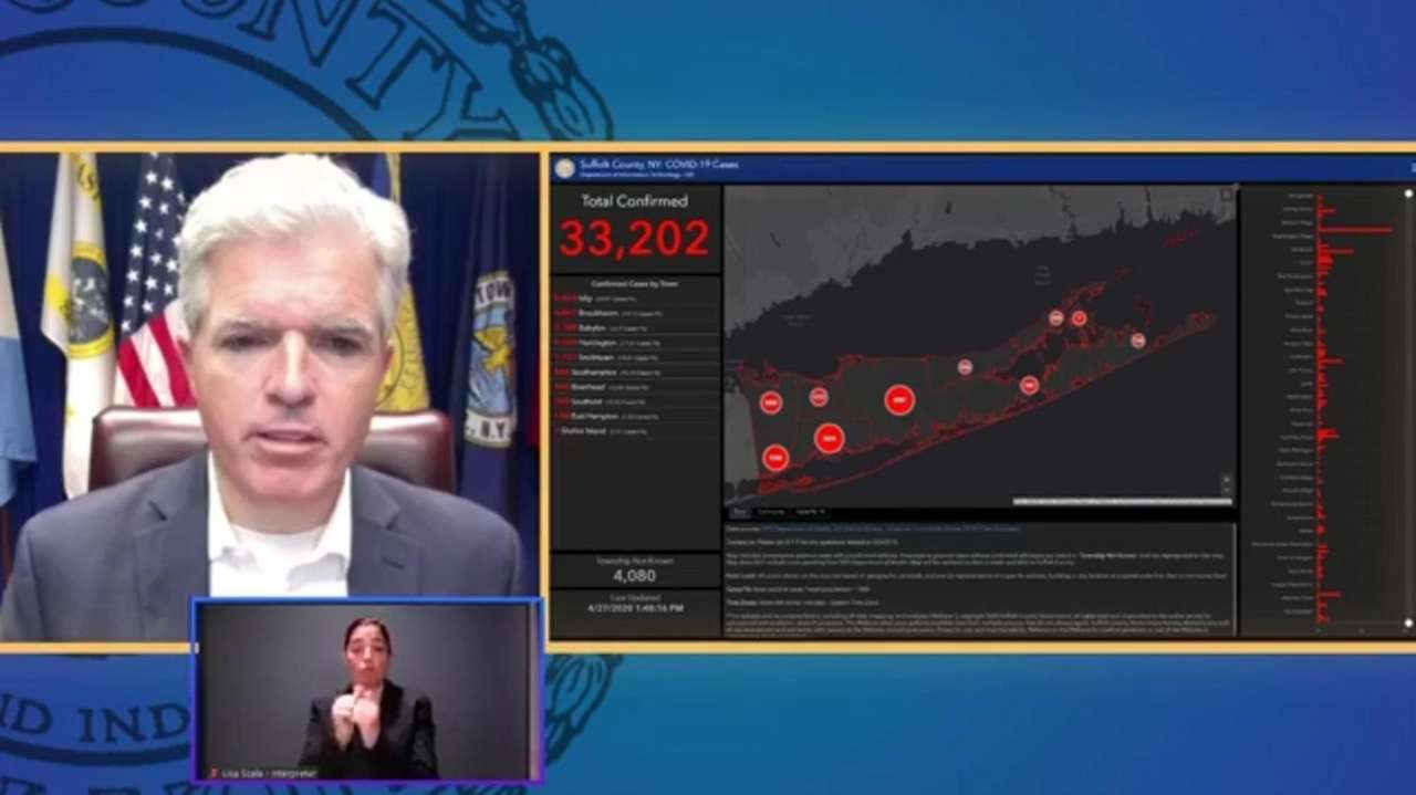 Suffolk County Executive Steve Bellone on Monday talked