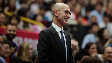 NBA Commissioner Adam Silver is introduced during a