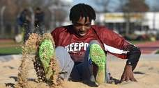 Freeport's Christian Quinn during a track and field