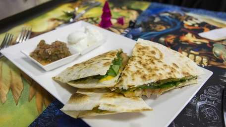 Puerto Rico Rustic Steak Quesadilla is served at