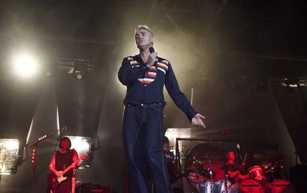 British rock singer Morrissey, the former front man