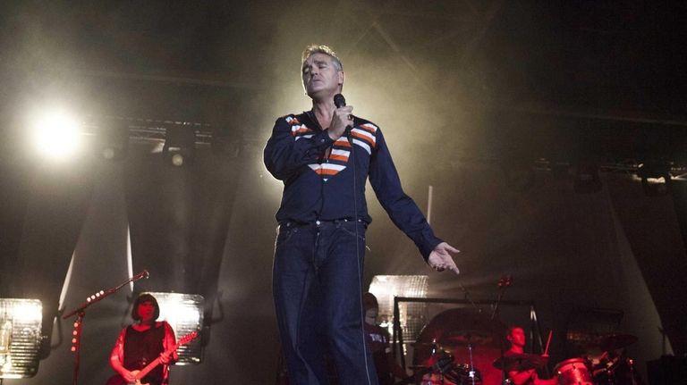 British rock singer Morrissey, the former front man