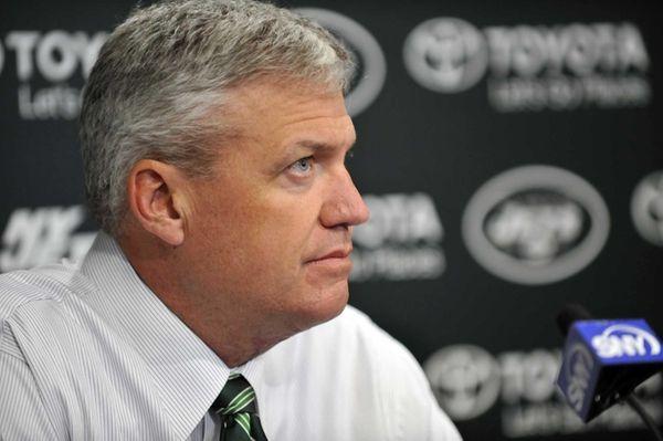 Rex Ryan addresses the media at the Jets
