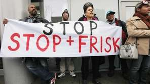 Opponents of the New York Police Department's controversial