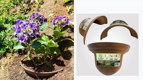 The hillside planter creates a level surface,