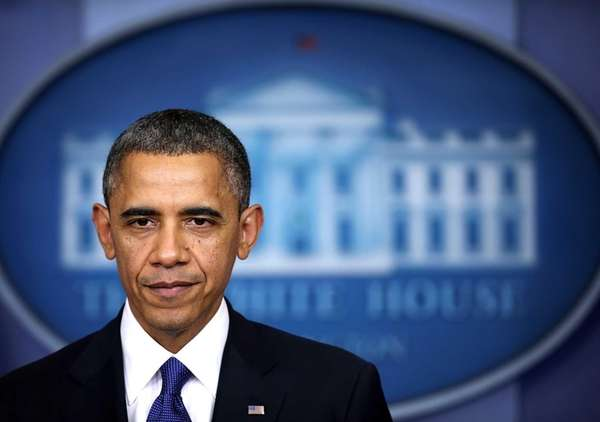 U.S. President Barack Obama delivers a statement on