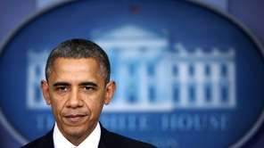 U.S. President Barack Obama delivers a statement at