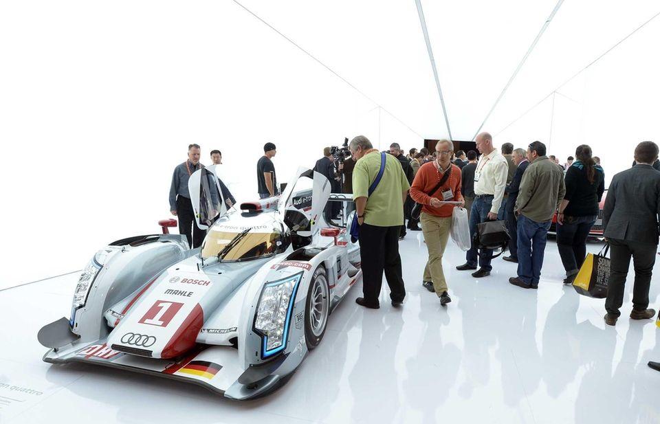 Consumers view the Audi R18 e-tron quattro hybrid