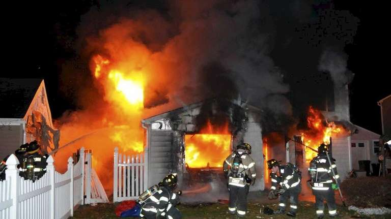 Firefighters responded to a house fire at about