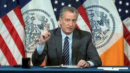 New York City Mayor Bill de Blasio appointed