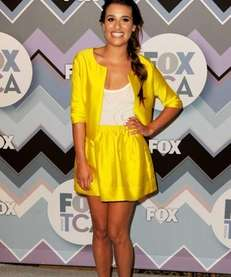 Actress Lea Michele arrives at the FOX All-Star