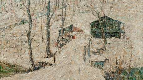 About the snowy setting in Ernest Lawson's 1910
