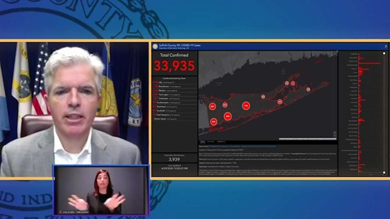 Suffolk County Executive Steve Bellone on Wednesday talked