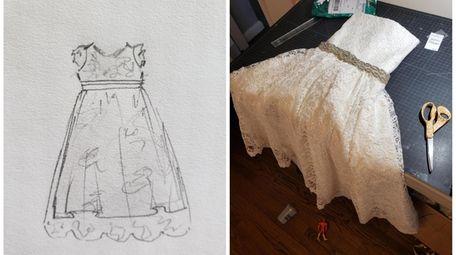 Seamstress Cat Munzing, of Oceanside, repurposes mothers' wedding