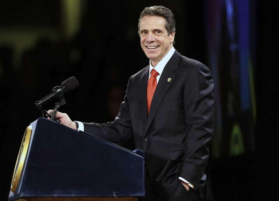 New York Gov. Andrew Cuomo delivers his third