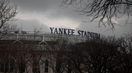 Exterior photos of Yankee Stadium during the COVID-19