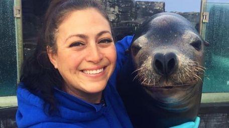 The Long Island Aquarium's Senior Mammal Trainer and