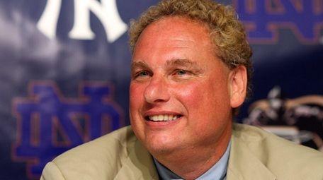 Yankees president Randy Levine speaks during a news
