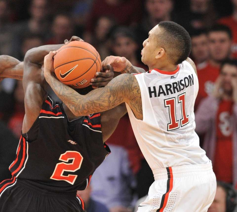 St. John's D'Angelo Harrison steals the ball from