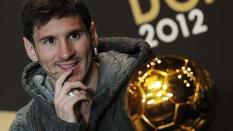 Argentina's Lionel Messi, one of the nominees for
