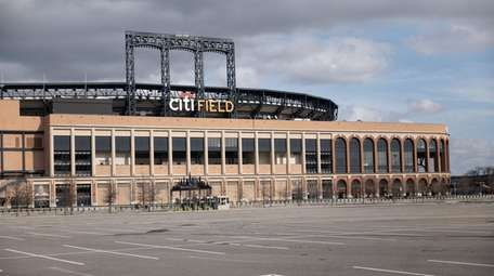 An empty Citi Field on Monday afternoon after