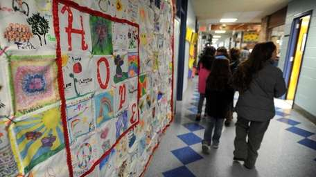 Students at Miller Avenue Elementary School in Shoreham