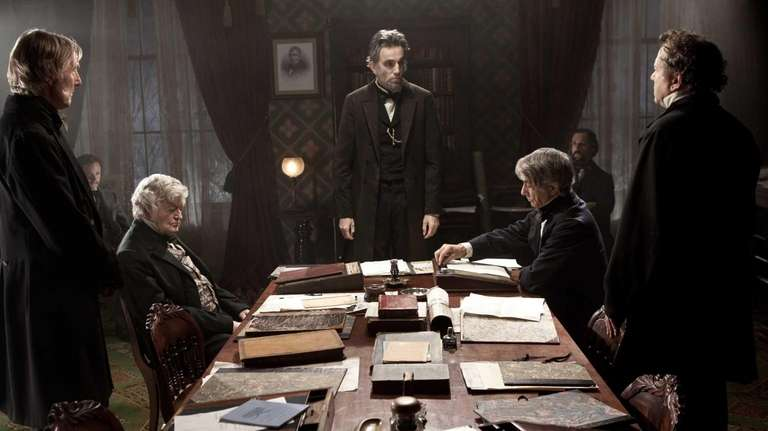 "Daniel Day-Lewis in ""Lincoln,"" which is poised for"