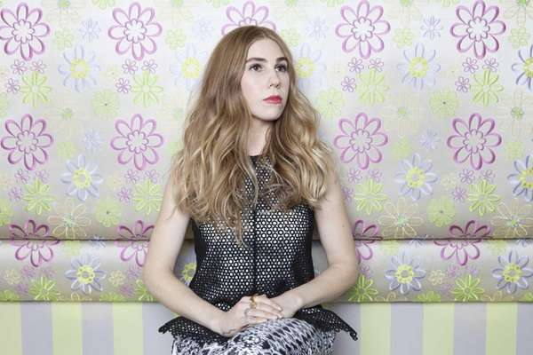 American actress Zosia Mamet posing for a portrait